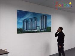 Картина, надрукована на справжньому полотні з покриттям лаком і натягуванням на дерев'яний підрамник галерейним методом. З тильної сторони розташовані металеві гачки для зручного кріплення на стіну.